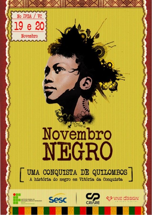 Programação Novembro Negro 2012.