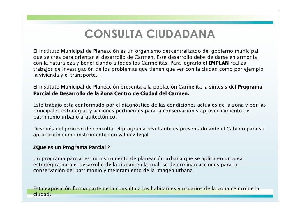 Programa Parcial Zona Centro Slide 2