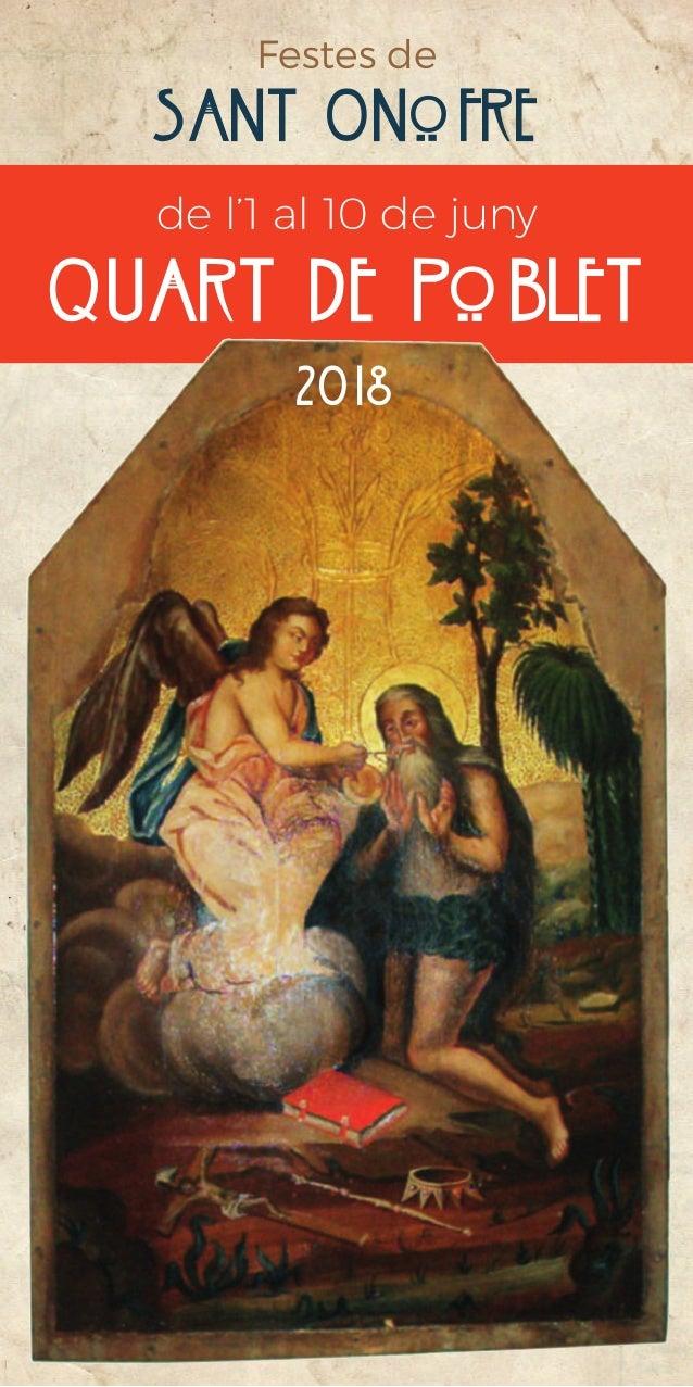 de l'1 al 10 de juny quart de poblet Festes de Sant Onofre 2018