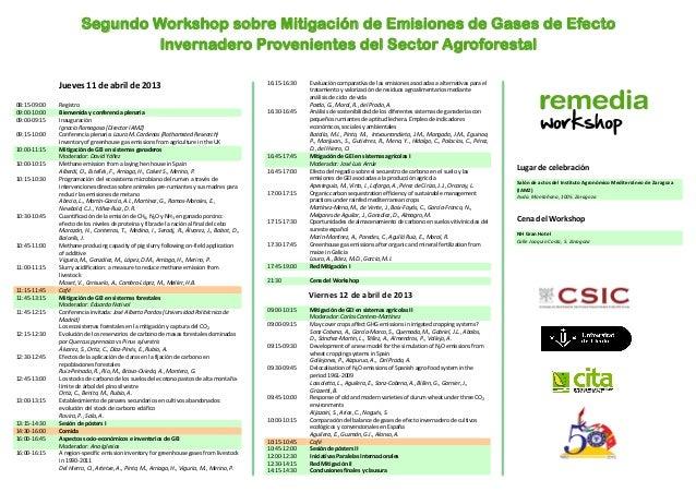 Segundo Workshop sobre Mitigación de Emisiones de Gases de Efecto                                 Invernadero Provenientes...