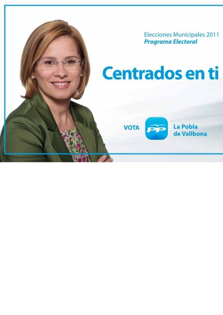 Programa PP La Pobla de Vallbona 2011 castellano