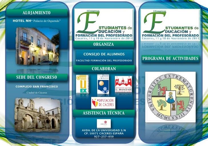"""ALOJAMIENTOHOTEL NH"""" Palacio de Oquendo""""                                          ORGANIZA                                ..."""
