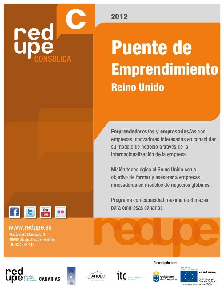 2012                               Puente de                               Emprendimiento                               Re...