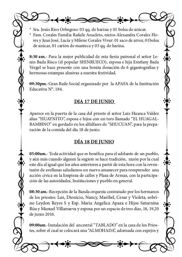 Programa Festividad San Juan Bautista Pallasca 2016