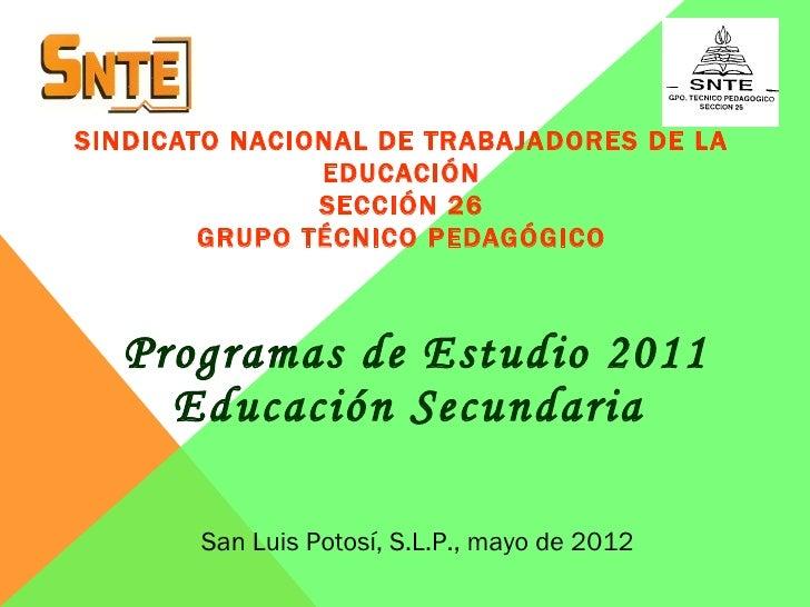 SINDICATO NACIONAL DE TRABAJADORES DE LA               EDUCACIÓN               SECCIÓN 26        GRUPO TÉCNICO PEDAGÓGICO ...