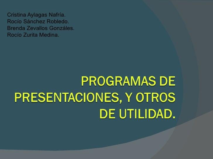 Programas de presentaciones y otros de utilidad