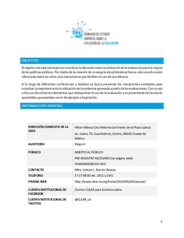 2 OBJETIVO El objetivo de este seminario es incentivar la discusión sobre la utilización de la evaluación para la mejora d...
