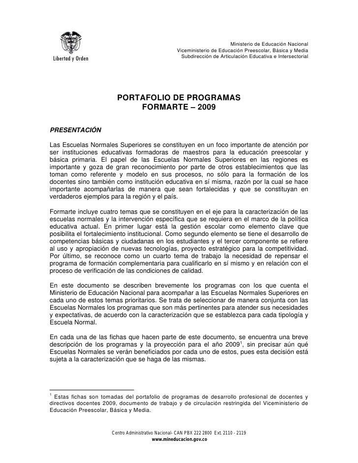 Ministerio de Educación Nacional                                                       Viceministerio de Educación Preesco...