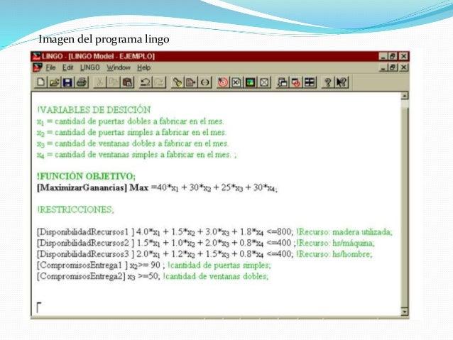 Optimization Software: Linear Programming, Nonlinear ...