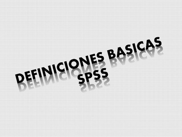 SPSS contenido básico