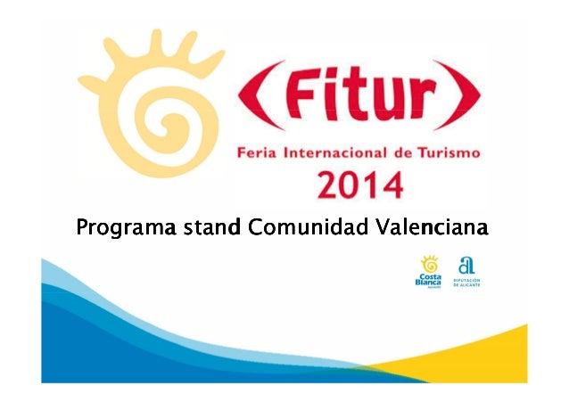 Programa stand Comunidad Valenciana
