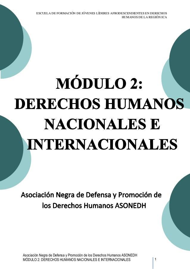 ESCUELA DE FORMACIÓN DE JÓVENES LÍDERES AFRODESCENDIENTES EN DERECHOS HUMANOS DE LA REGIÓN ICA  Asociación Negra de Defens...