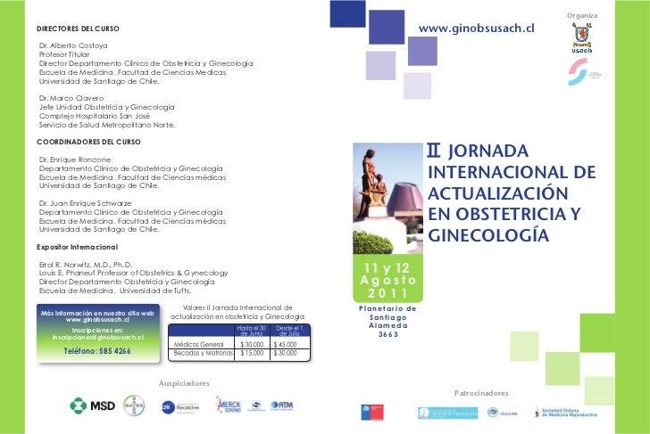 OrganizaDIRECTORES DEL CURSO                                                                                    www.ginobs...
