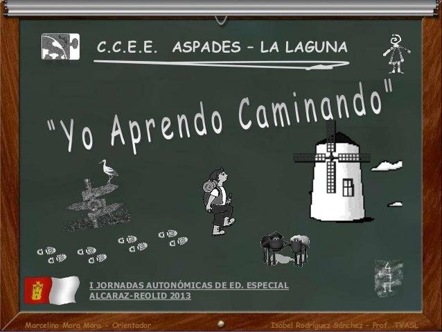 C.C.E.E. ASPADES – LA LAGUNA I JORNADAS AUTONÓMICAS DE ED. ESPECIAL ALCARAZ-REOLID 2013 Marcelino Mora Mora - Orientador I...