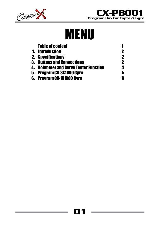 Program box zyx manual
