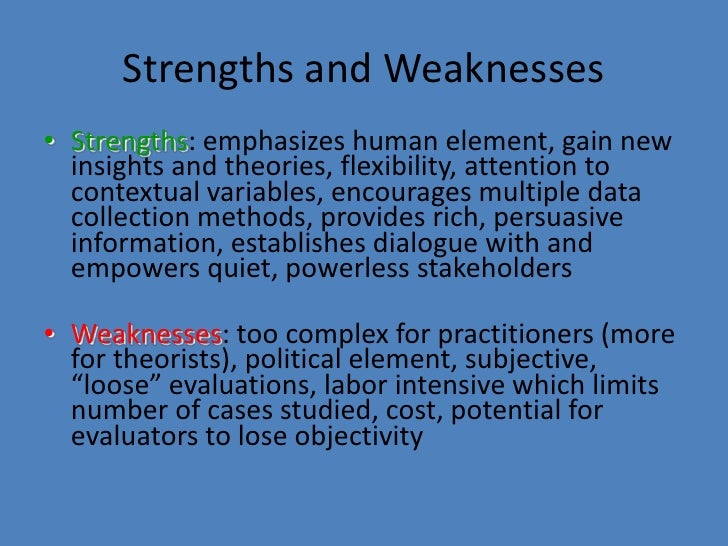 humanistic strengths weaknesses