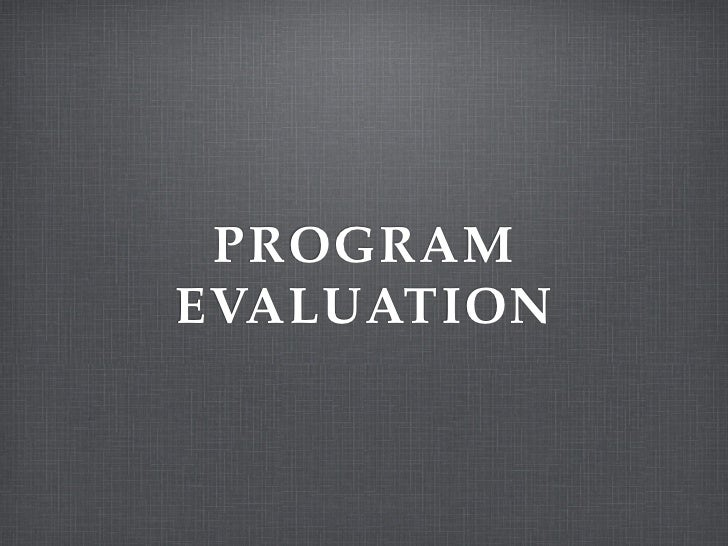 PROGRAMEVALUATION