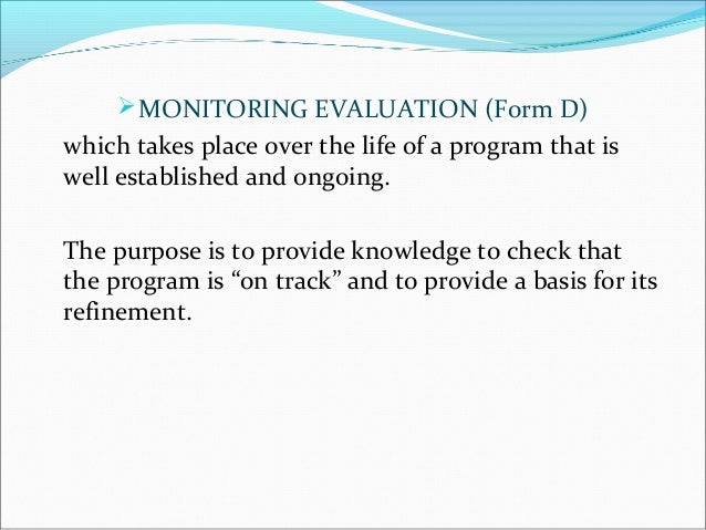 Program Evaluation Forms and Approaches by Helen A Casimiro – Program Evaluation Forms