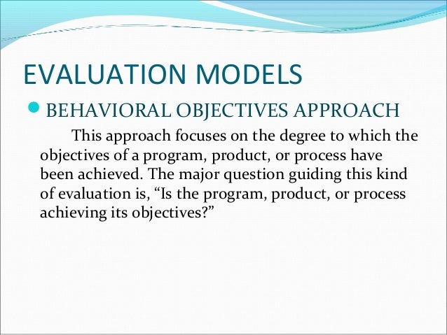 Program Evaluation Forms And Approaches By Helen A Casimiro