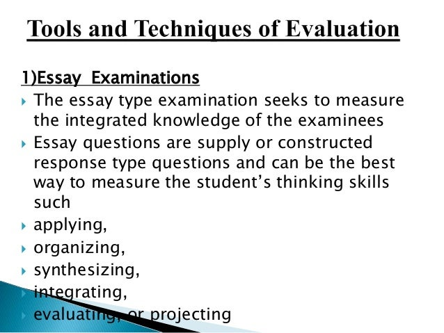 essay of examination
