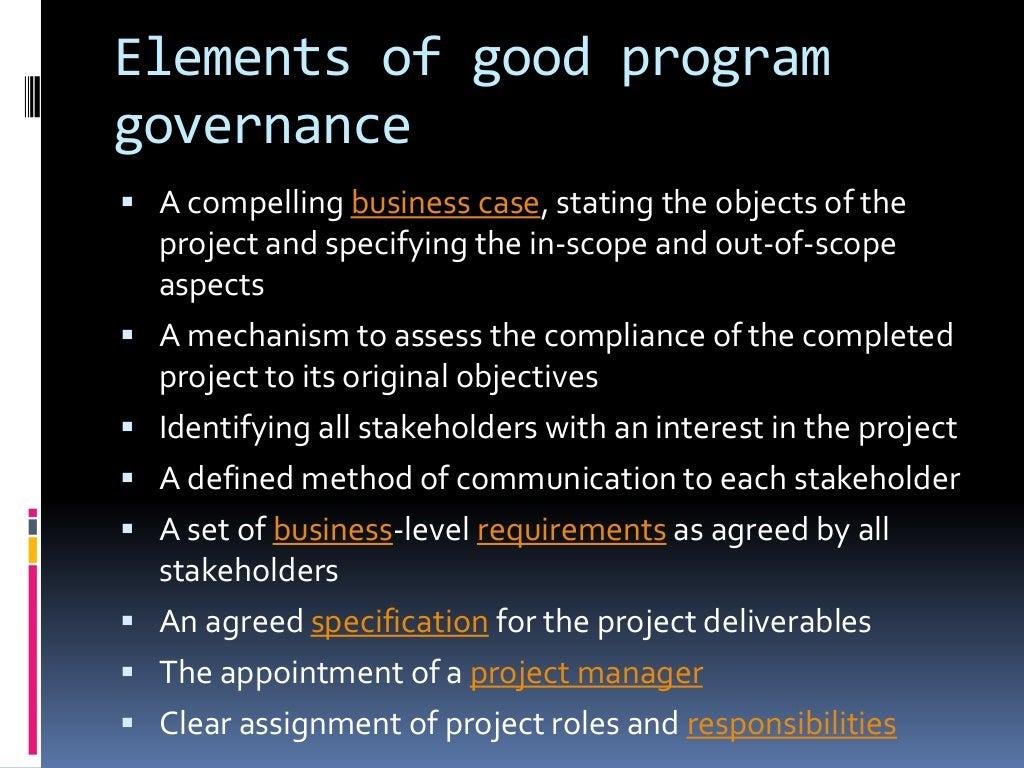 Program Governance Structure