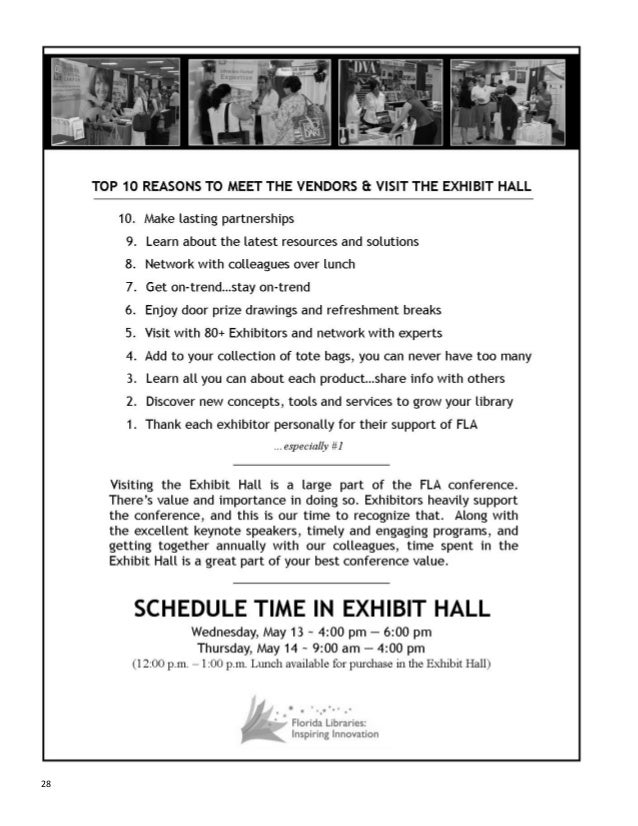 Florida library association conference guide 2015 28 fandeluxe Gallery