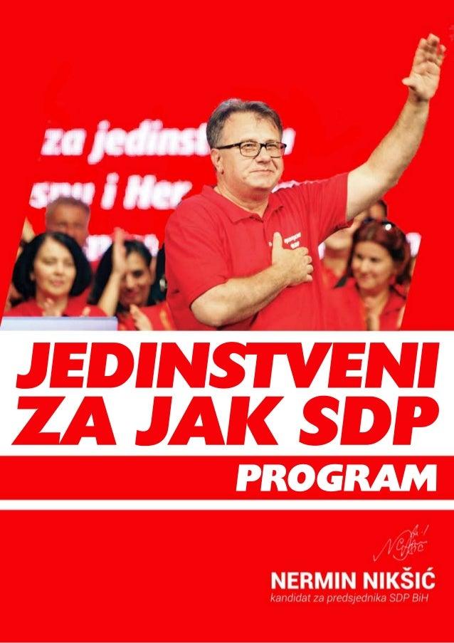 Program rada Nermina Nikšića, predsjednika SDP BiH u mandatnom periodu 2015. - 2019. godina 2015.