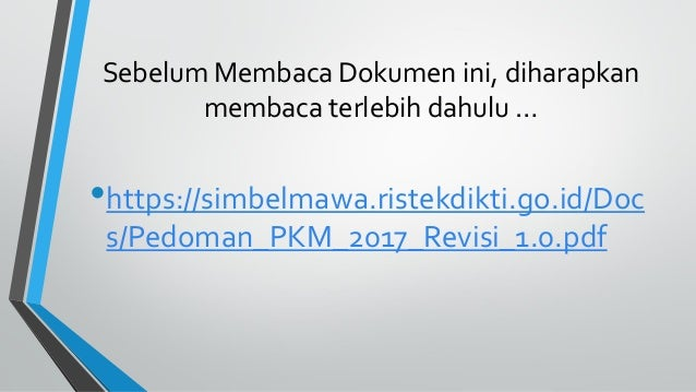 Program kreativitas mahasiswa -  PKM Tips and Tricks Slide 3