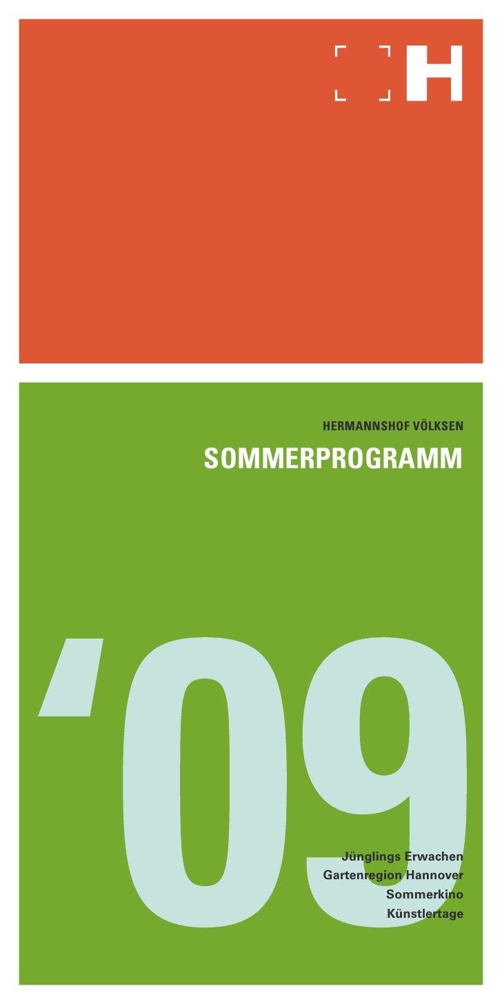 Hermannshof VölksensommerPROGRAMM        Jünglings Erwachen      Gartenregion Hannover               Sommerkino           ...