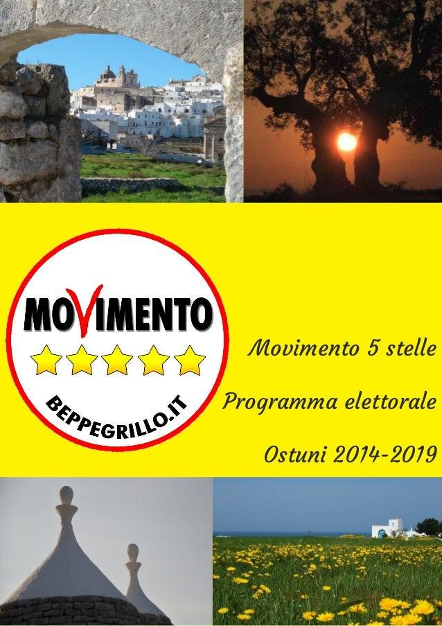 Movimento 5 stelle Programma elettorale Ostuni 2014-2019