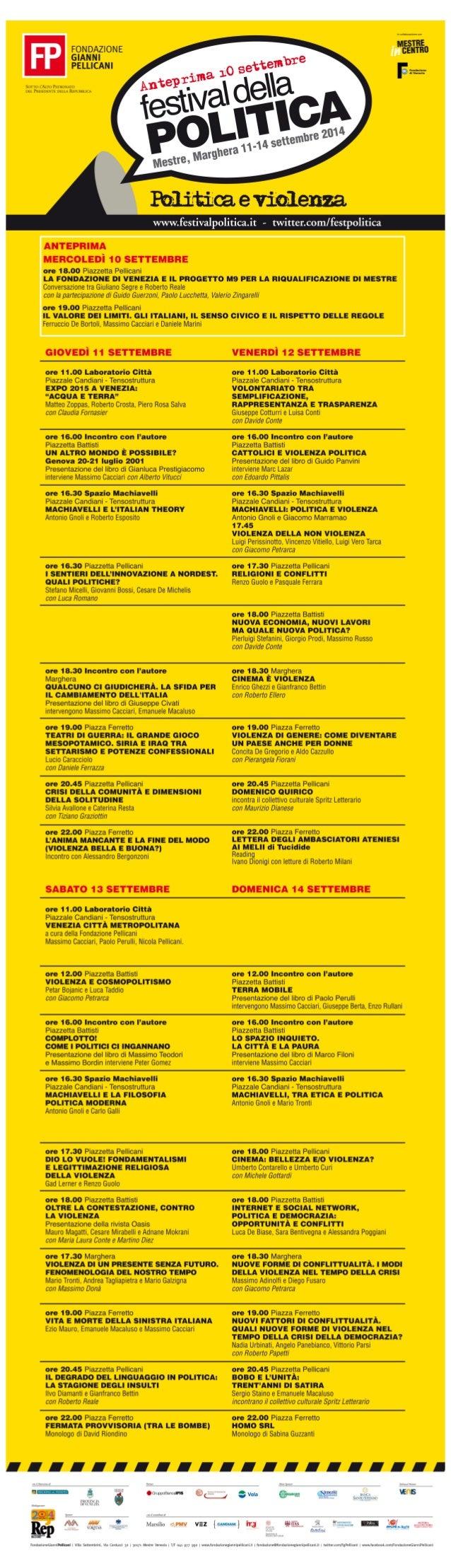 Festival della Politica 2014 - PROGRAMMA