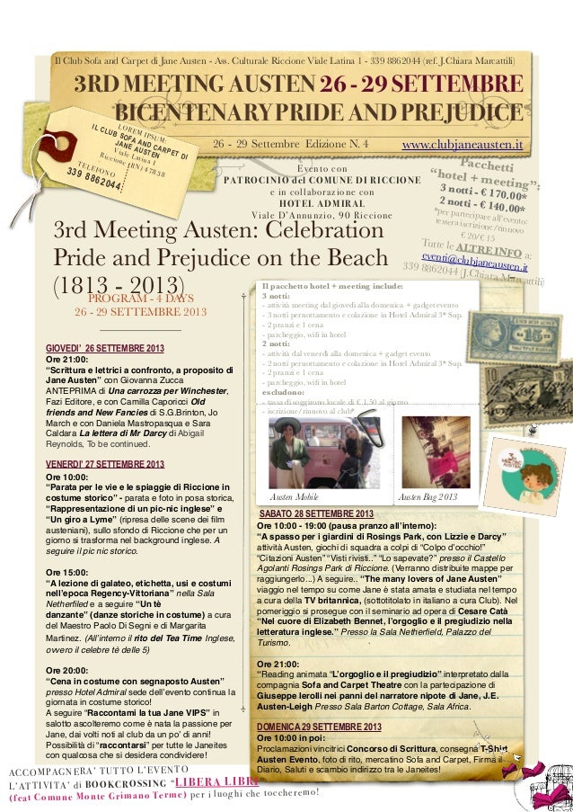 Il Club Sofa and Carpet di Jane Austen - Ass. Culturale Riccione Viale Latina 1 - 339 8862044 (ref. J.Chiara Marcattili) 3...
