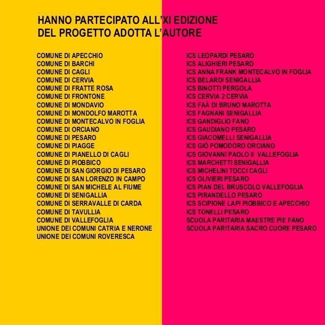 Programma adotta l 39 autore 2016 for Pomodoro senigallia