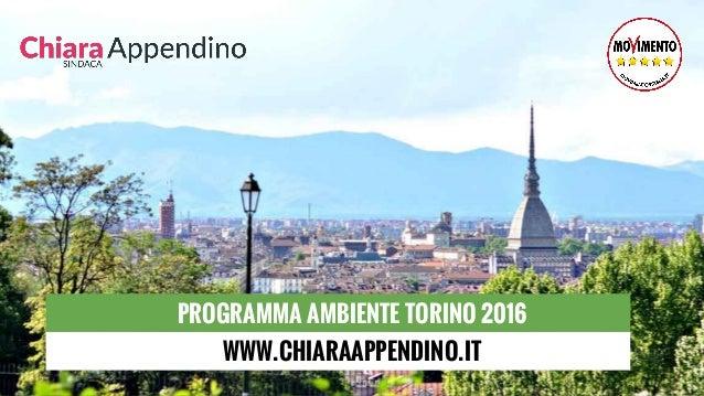 PROGRAMMA AMBIENTE TORINO 2016 WWW.CHIARAAPPENDINO.IT