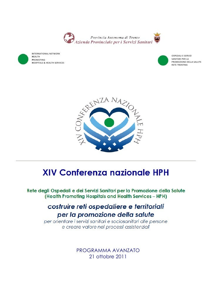 INTERNATIONAL NETWORKHEALTH                                              OSPEDALI E SERVIZIPROMOTING                      ...