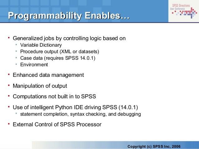 Programmability in spss 14
