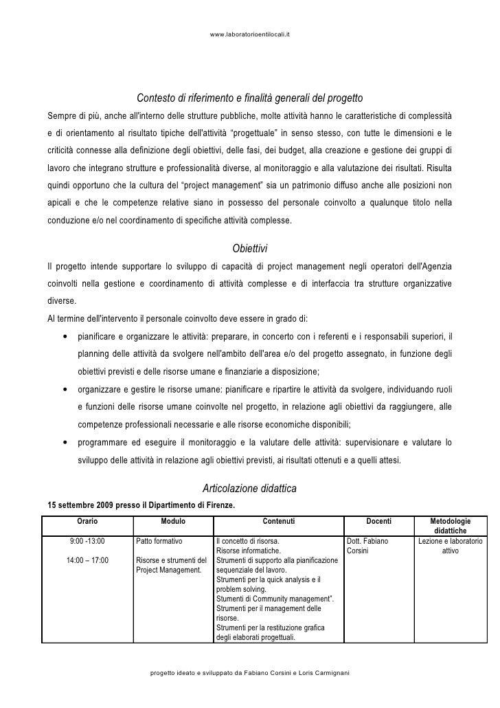 Programma Del Corso Slide 2