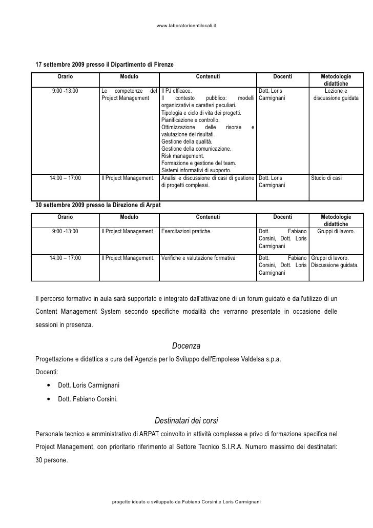 Programma Del Corso Slide 3