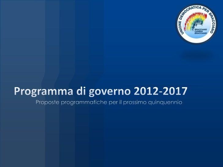 Programma di governo 2012 2017