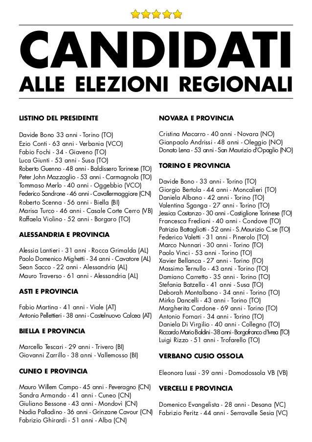 Elezioni regionali piemonte candidating