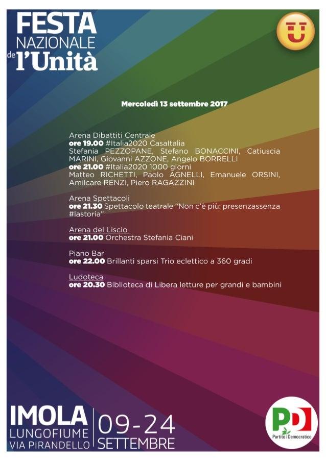 Programma Festa nazionale de L'Unità