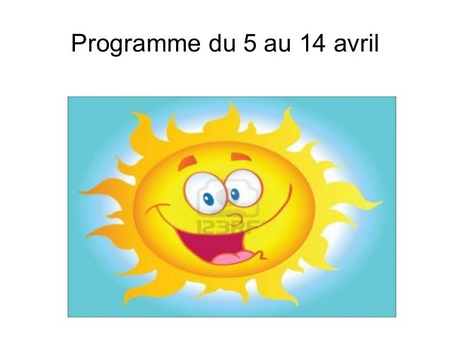 Programme du 5 au 14 avril