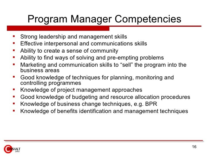 program manager duties exolgbabogadosco