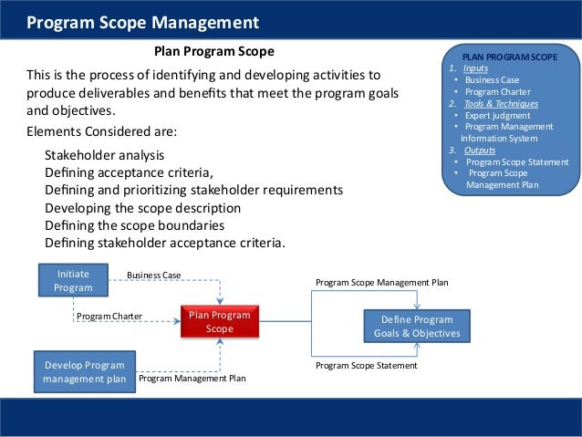Program Management Scope Management