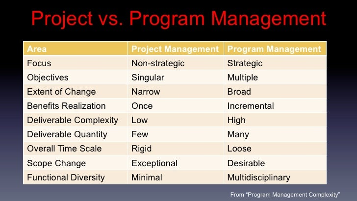 program management skills