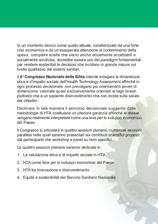 Programma preliminare  6° congresso nazionale sihta 3 Slide 2