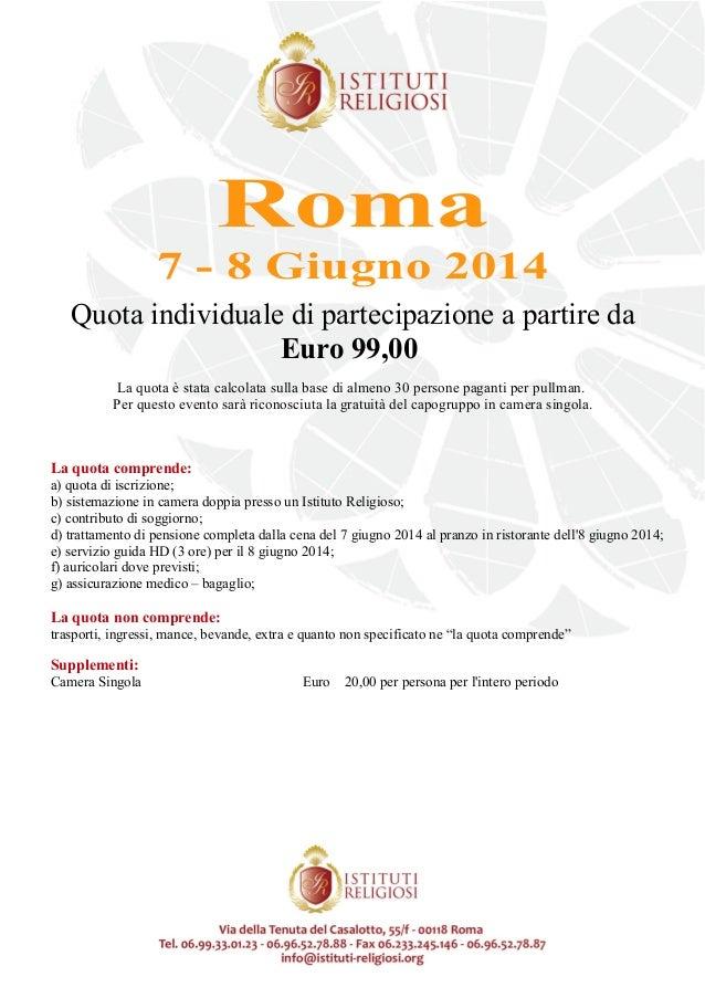 Programma Roma 2 giorni