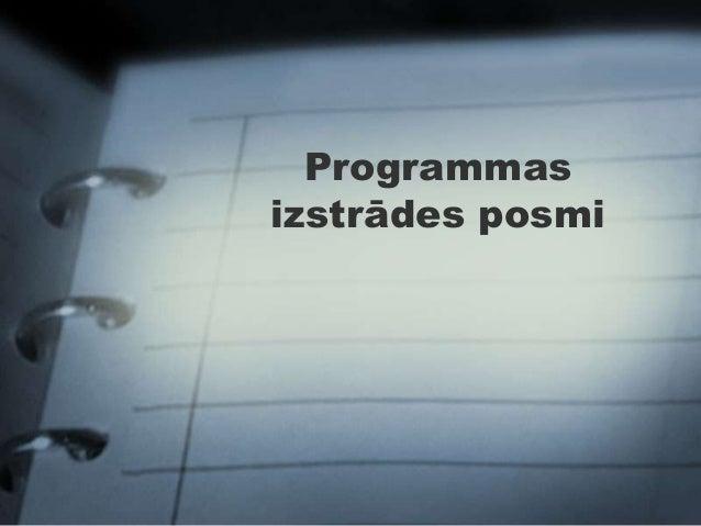Programmasizstrādes posmi