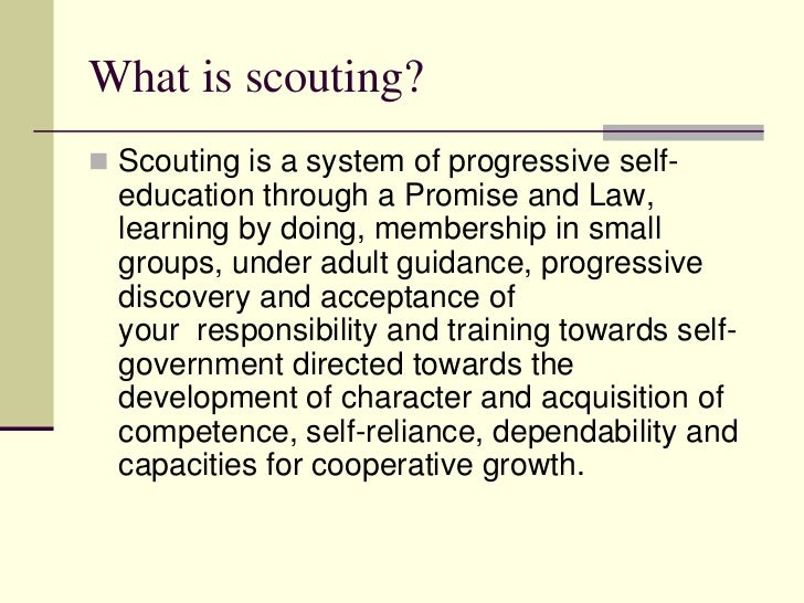 Education Is A Progressive Discovery Of Our: Caribbean Scout Programme