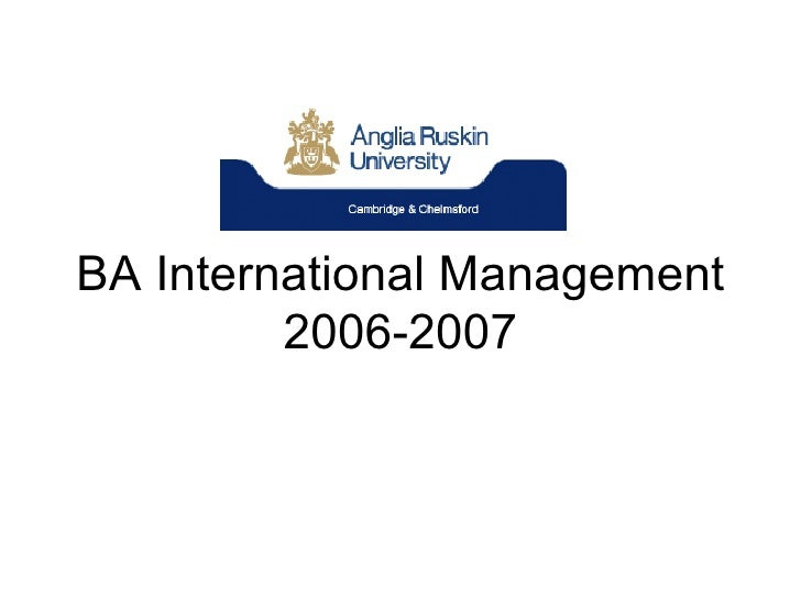 BA International Management 2006-2007